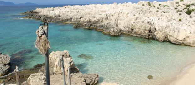 Alaties Beach, Cefalonia. Una caletta piccola con un fondale meraviglioso