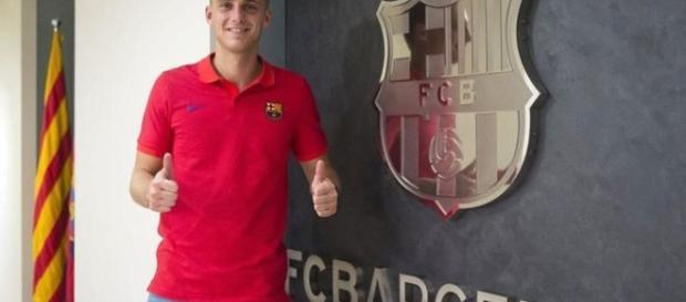 Jasper Cillessen llegando al FC Barcelona