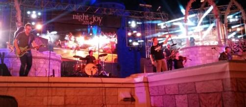 Casting Crowns rocks the stage at a previous Night of Joy appearance. (Photo by Barb Nefer)