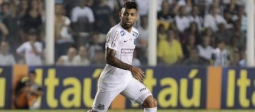 Gabriel Barbosa Almeida in maglia Santos