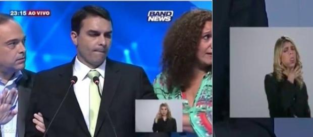 Bolsonaro filho passa mal e é carragado