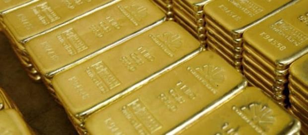 Cada barra continha um quilo de ouro