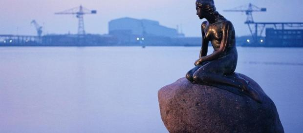 La sirenetta presente nella capitale danese.
