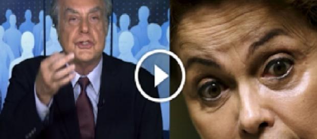 Arnado Jabor e Dilma Rousseff - Foto/Montagem