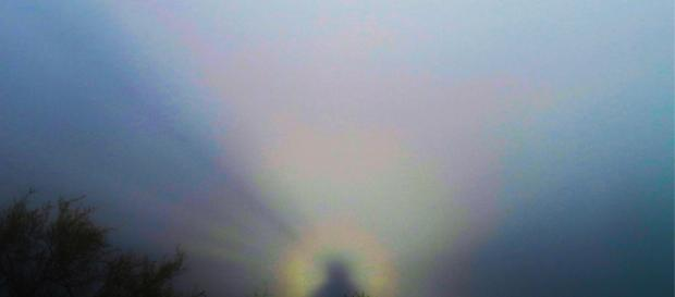 El espectro de Brocken fotografiado a las afueras de Santiago