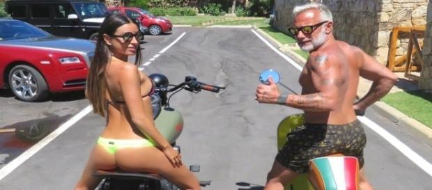 Estilo de vida despojado do milionário Gianluca Vacchi e sua noiva Giorgia Gabriele