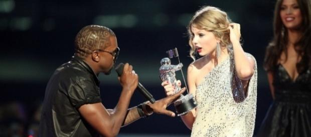 Kanye West needs to be stopped intimidating Swift, as she skips MTV VMAs this weekend. Photo: Blasting News Library - radioone.fm