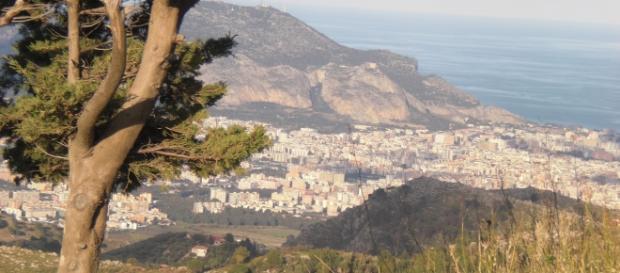Palermo vista dal Castellaccio (Monreale)