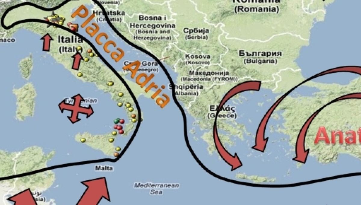 Cartina Italia Terremoti.Origine E Causa Dei Terremoti In Italia