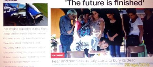 """""""Il futuro e finito"""" scrive CNN, citando i sopravvissuti delle Marche"""