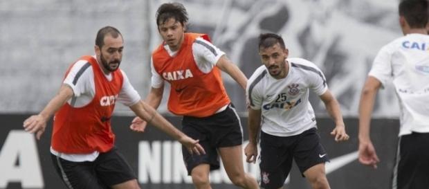 Danilo, Romero e Uendel. (Divulgação Agência Corinthians)