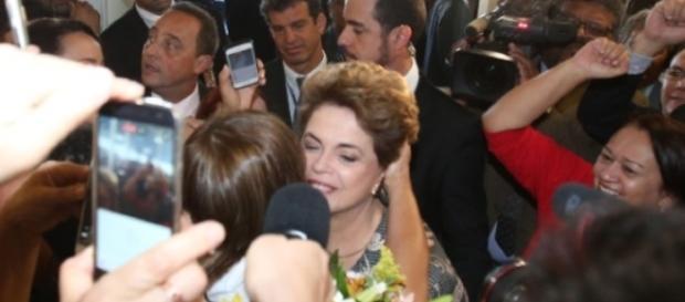 Dilma Rousseff depõe no senado em sua defesa
