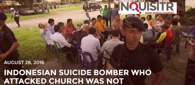 Le prêtre indonésien a été légèrement blessé et son agresseur appréhendé