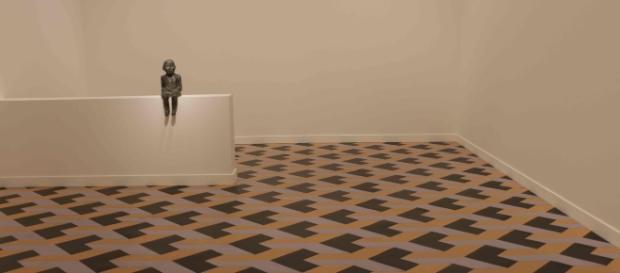 """Obra mediante la cual se promueve la exposición """"El peso de un Gesto"""" en Madrid"""