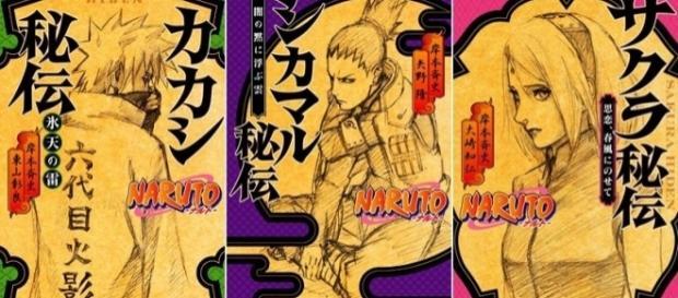 Portadas de las novelas de Naruto