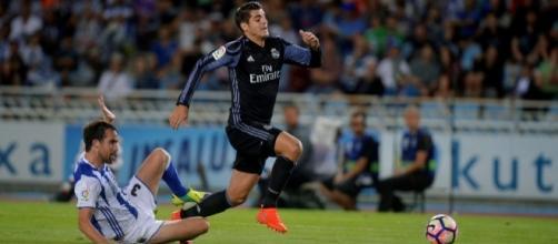Alvaro Morata, in maglia Real Madrid