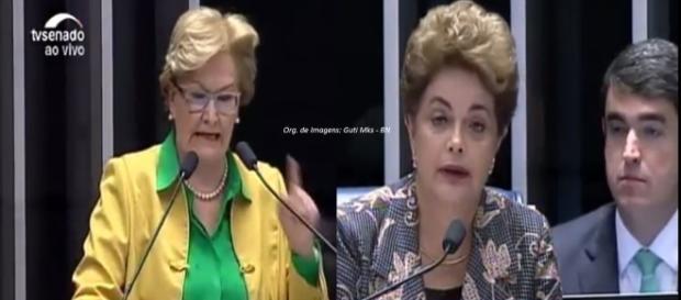 Ana Amélia rebateu Dilma Rousseff no Senado