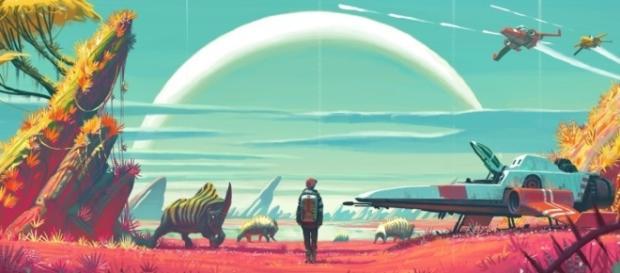 No Man´s Sky, jogo que contém um universo imenso a ser explorado