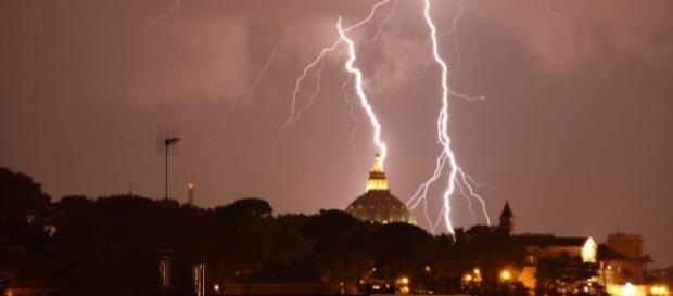 Roma sotto la sferza di un temporale