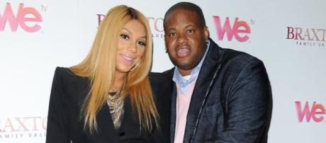 Tamar Braxton and Vince Herbert have a son together/Photo via bet.com