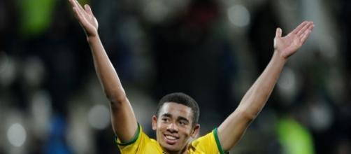 Gabriel Jesus, atacante da Seleção Olímpica Brasileira.