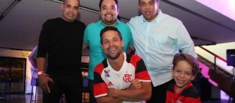 Casa Flamengo contou até com a presença de Diego
