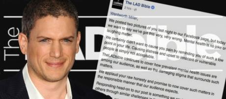Website apologises for fat-shaming Wentworth Miller after he ... - mirror.co.uk