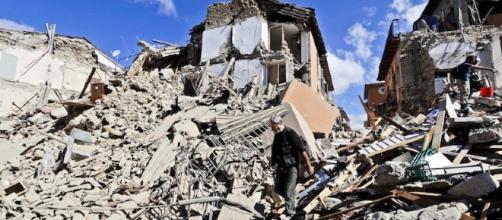 Ciò che rimane di Amatrice dopo il terremoto