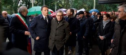 Matteo Renzi con Vasco Errani, scelto in qualità di commissario per la ricostruzione post-terremoto
