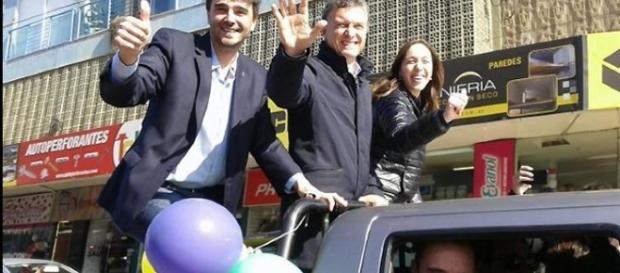 Ezequiel Gilli en plena campaña