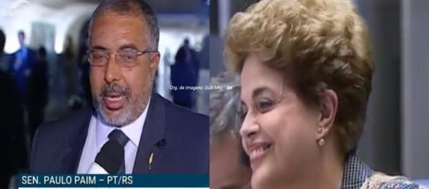 Paulo Paim se emocionou ao falar de Dilma