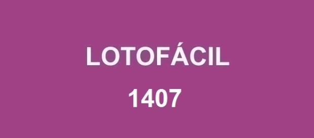 Resultado da Lotofácil 1407 divulgado pela Loterias Caixa