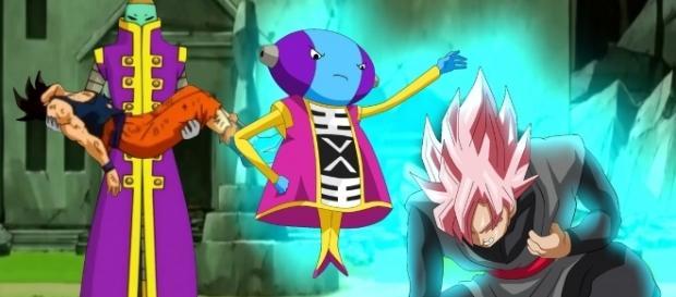 Zeno sama castigaría a black goku por derrotar a son goku