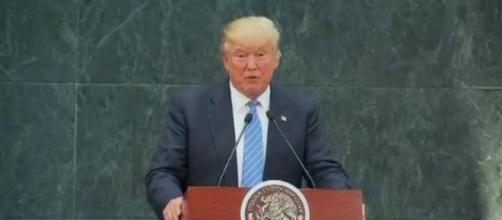 Donald Trump in Mexico, via Twitter