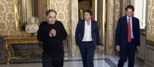 Marchionne ed Elkann presenti al vertice Renzi-Merkel (foto di repertorio)