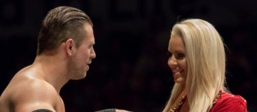 The Miz, with his wife/valet Maryse, July 2016. Photo c/o Wikimedia Commons.
