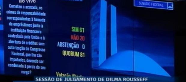 Dilma não é mais presidente do Brasil