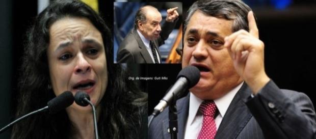 Janaína Paschoal foi defendida por Aloysio após insulto de Guimarães