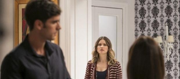Jéssica quer separar Felipe e Shirlei (Divulgação/Globo)