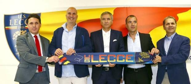 La dirigenza del Lecce. Foto Salento Giallorosso.