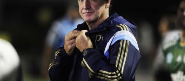 Cuca, técnico do Palmeiras, acompanha jogo.