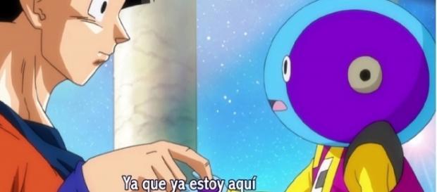 Goku con su amigo Zeno-sama y el Objeto de llamada