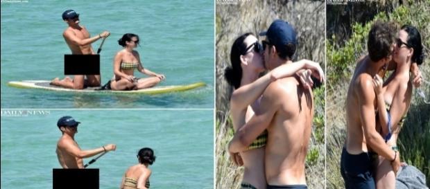 Orlando Bloom passeia pelado com namorada