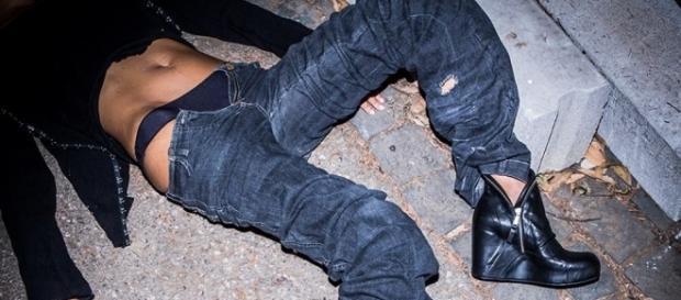 La foto della campagna pubblicitaria del negozio di calzature Eredi Crozza