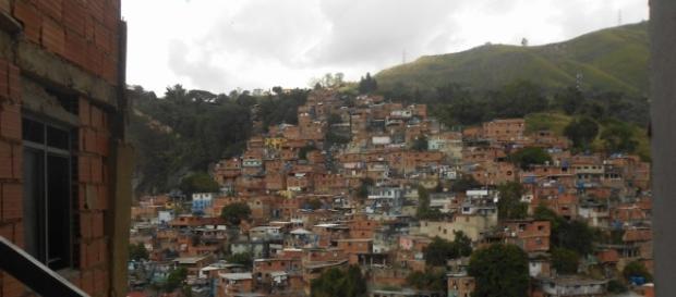 """Una favela o """"barrio"""" de Caracas"""