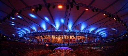 así lució el estadio Maracaná en la apertura de los juegos