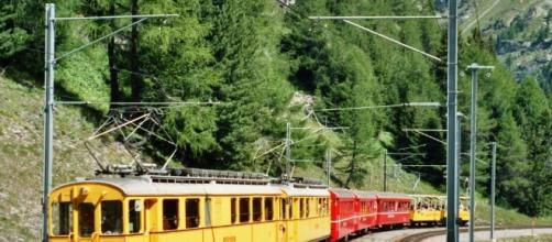 Los trenes son muy utilizados para trasladarse por Suiza