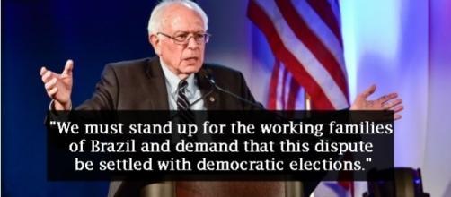 Sanders declara apoio a Dilma Rousseff