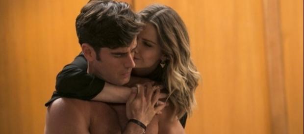 Com Jéssica, Felipe pensa em Shirlei (Divulgação/Globo)