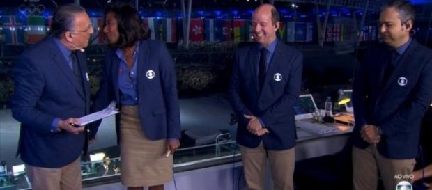 Galvão Bueno e Glória Maria na Globo